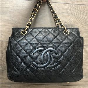 Chanel timeless petite tote bag caviar skin